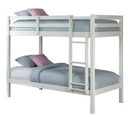 Hillsdale Kids and Teens 2179-021 Caspian Twin Bunk Bed, Twin/Twin White