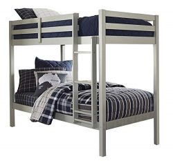 Hillsdale Kids and Teens 2177-021 Caspian Twin Bunk Bed, Twin/Twin, Gray