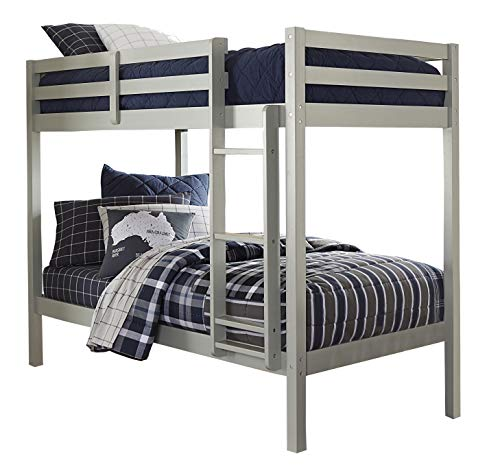 Hillsdale Kids and Teens 2177-021 Caspian Twin Bunk Bed, Twin/Twin, Gray