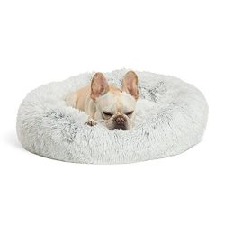 Best Friends by Sheri Calming Shag Vegan Fur Donut Cuddler (23×23) – Small Round Donu ...