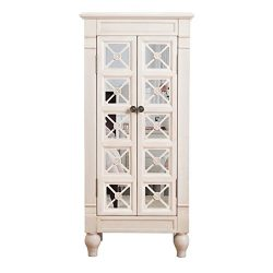 Hives & Honey Alana Jewelry Armoire, Product Dimensions 41″ H x 19″ W x 11.75″ D, White