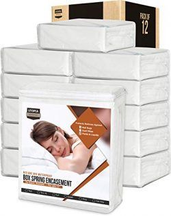 Utopia Bedding Zippered Waterproof Mattress Encasement – (Bulk Pack of 12) – Knitted ...