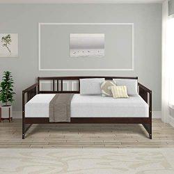 Harper & Bright Designs Wood daybed20190702 Daybed Frame Platform, Full, Espresso