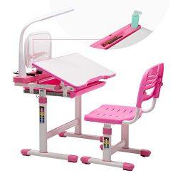 Mecor Kids Desks,Children Desk and Chair Set Height Adjustable,Childs School Student Sturdy Tabl ...