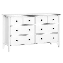 VASAGLE 6-Drawer Dresser, Chest of Drawers with Solid Wood Frame, Storage Unit for The Bedroom,  ...