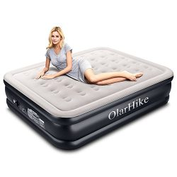 Queen Air Mattress with Built-in Pump for 2 Adults, Inflatable Double High Elevated Airbed for G ...
