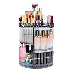 DreamGenius Makeup Organizer, 360° Rotating Adjustable Carousel Storage for Cosmetics, Toiletrie ...
