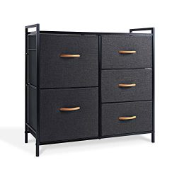 WeHome Dresser Organizer with 5 Drawers, Fabric Dresser Tower for Bedroom, Hallway, Entryway, Cl ...
