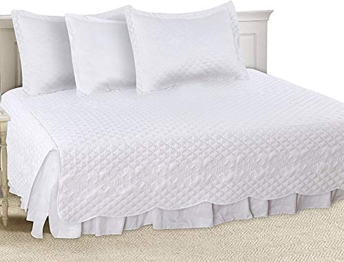 Utopia Bedding 5 Pieces Daybed Set, 1 Bed Skirt, 3 Pillowcases and 1 Quilted Bedspread