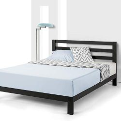 Mellow Full Frame 10 inch Heavy Duty Metal Platform Bed W/Headboard/Wooden Slat Support/Mattress ...