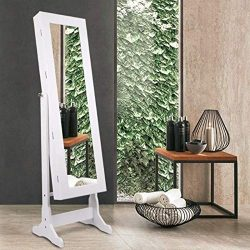 Jewelry Cabinet Armoire Mirrored Jewelry Armoire Lockable Wall Jewelry Mirror Cabinet Storage Or ...