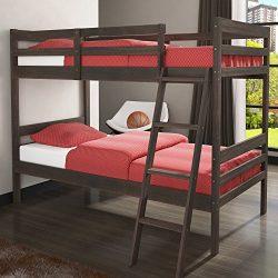 Donco Kids 2004RW Economy Bunk Bed, Twin/Twin, Rustic Mocha Walnut