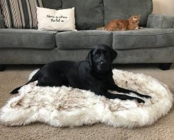 PupRug Faux Fur Memory Foam Orthopedic Dog Bed (Large/Extra Large – 50″ L x 30″ ...