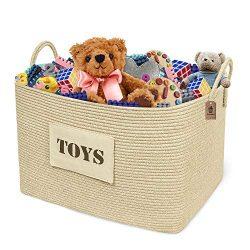 Goodpick Large Toy Storage Basket 22″ x 15″ x 14″ -Toy Chest Storage for Girls ...