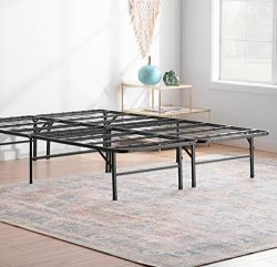 Linenspa 14 Inch Folding Metal Platform Bed Frame – 13 Inches of Clearance – Tons of ...