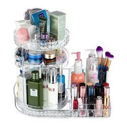 OBOR Large Capacity Cosmetic Organizer – Makeup Storage 360 Degree Rotaiton Adjustable Cos ...