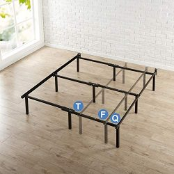 Zinus Michelle Compack Adjustable Steel Bed Frame, for Box Spring and Mattress Set, Fits Twin to ...