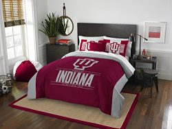 The Northwest Company Officially Licensed NCAA Indiana Hoosiers Modern Take Full/Queen Comforter ...