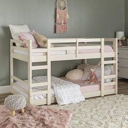 WE Furniture AZWJRTOTWH Bunk Bed, Twin, White