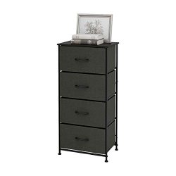WLIVE Dresser with 4 Drawers, Fabric Storage Tower, Organizer Unit for Bedroom, Hallway, Entrywa ...