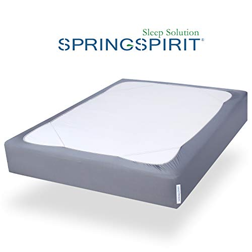 Box Spring Cover King Size with Smooth and Elastic Woven Material, Wrinkle & Fading Resistan ...