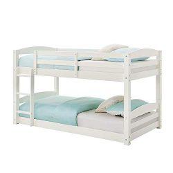 Max & Finn AX7891W Bunk Bed, White, Black
