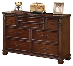 Ashley Furniture Signature Design – Leahlyn Dresser – 7 Drawer – Warm Brown