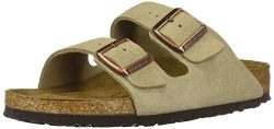 Birkenstock Unisex Arizona Taupe Suede Soft Foot Bed Sandals – 41 N EU/10-10.5 2A(N) US Wo ...