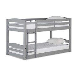 Max & Finn DL7891G Twin Bunk Bed, Gray
