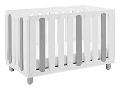 Storkcraft Sienna 3-in-1 Convertible Crib, White/Pebble Gray Easily Converts to Toddler Bed & ...