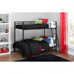 Mainstays Twin over Twin Convertible Bunk Bed (Black)