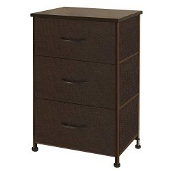 WLIVE Dresser with 3 Drawers, Fabric Storage Tower, Organizer Unit for Bedroom, Hallway, Entrywa ...