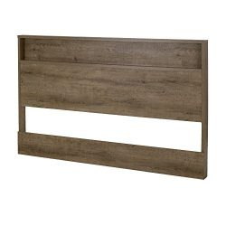 South Shore Holland Headboard with Shelf, Full/Queen 54/60-Inch, Weathered Oak