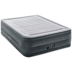 Intex Comfort Plush Elevated Dura-Beam Airbed with Internal Electric Pump, Bed Height 22″, ...