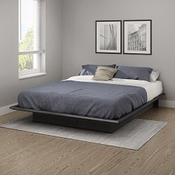 "South Shore 10440 Step One Queen Platform Bed (60""), Gray Oak, 60″,"