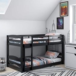 Dorel Living FZ7891B Phoenix, Black Twin Bunk Bed,
