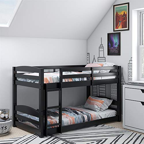 Dorel Living FZ7891B Phoenix, Black Twin Bunk Bed,