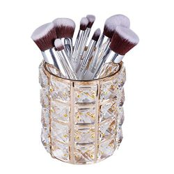 Nesee Makeup Brush Holders, Handcrafted Crystal Rotating Makeup Brush Holder Eyebrow Pencil Pen  ...