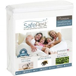 SafeRest King Size Premium Hypoallergenic Waterproof Mattress Protector – Vinyl Free