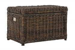 happimess Elijah 30″ Wicker Storage Trunk, Brown