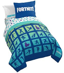 Jay Franco Fortnite Boogie Bomb 7 Piece Full Bed Set – Includes Reversible Comforter & ...