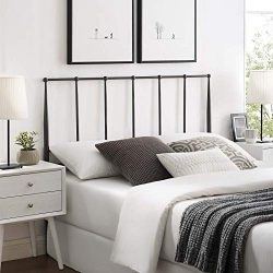 Modway MOD-6105-BRN Kiana Queen Metal Stainless Steel Headboard, Brown