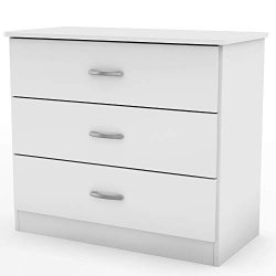South Shore 12651 Libra 3-Drawer Chest-Pure White