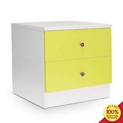 romatpretty 2 Large Drawers Storage Nightstand, Wood Bedside Storage Cabinet Furniture Accent En ...