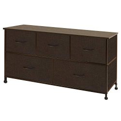 WLIVE Dresser with 5 Drawers, Fabric Storage Tower, Organizer Unit for Bedroom, Hallway, Entrywa ...