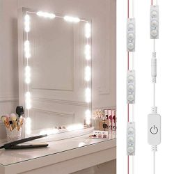 DIY Hollywood Style LED Vanity Mirror Lights Kit Dimmable Lighting, 10FT/20W-60leds, Daylight Wh ...