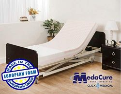 Pressure Redistribution Foam Hospital Bed Mattress – 3 Layered Visco Elastic Memory Foam & ...