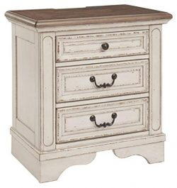 Signature Design by Ashley B743-93 Realyn Nightstand, Chipped White