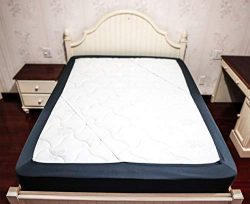 Barossa Design Box Spring Cover Queen Size – Wrap Around Elastic Bed Skirt, Easy on/Easy O ...
