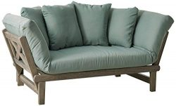 Cambridge-Casual 460109BLU West Lake Convertible Sofa Daybed, Grey/Teal